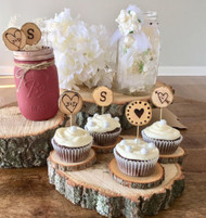 """Rustic Bark Wood Craft Slices Small unsanded 50 Pcs 2""""-3"""""""