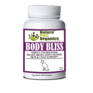 Natura Petz BODY BLISS - OMEGA 3 & 6 SUPER FOOD + HEART, BRAIN JOINT, BLOOD & COAT SUPPORT*  for CATS All  Life Stages 90 Capsules