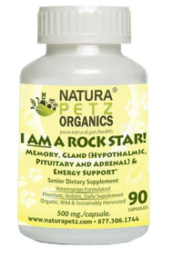 Natura Petz I AM A ROCK STAR MEMORY, GLAND (HYPOTHALMIC, PITUITARY AND ADRENAL) & ENERGY SUPPORT* SENIOR Dog & Cat