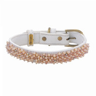 Beaded   Fresh Water Pearl & Rose Quartz Dog Collar