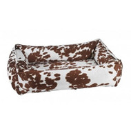 Bowsers MicroVelvet Urban Lounger Rectangle Nest Dog Bed  DURANGO - 4 SIZES