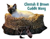 Cheetah Print & Brown Reversible Snuggle Bug w/ Black ruffle trim