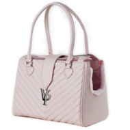 Vanderpump Monogramme Chain Pet Carrier – Light Pink