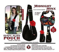 Midnight Minx Puppy  Pouch Sling for pets up to 19 lbs