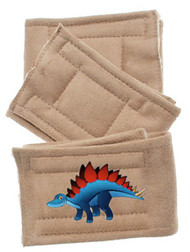 Peter Pads  Belly Band  Dinosaur Happy Face- 3 Pack