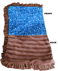 Pet Flys Luxurious Plush Pet Blanket -  Blue Western