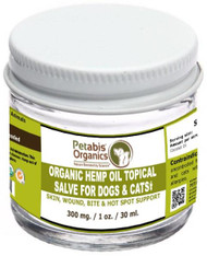CBD TOPICAL SALVE 300 mg 1 Oz - ORGANIC CBD TOPICAL SALVE DOGS, CATS SMALL ANIMALS & HORSES*