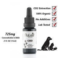 NuLeaf Naturals 725mg  Full Spectrum PET CBD Oil, High Grade Hemp Extract (50mg/ml)