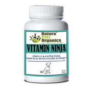 Natura Petz VITAMIN NINJA 3 & 6 SUPER FOOD, IMMUNE & MULTI-VITAMIN for DOGS* All Life Stages