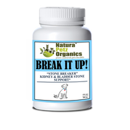 Natura Petz BREAK IT UP! Stone Eliminator Kidney, Gallstone & Liver Support   DOG ALL TYPE  150 Capsules