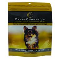 Canna Companion SMALL DOGS < 20 lbs. 205 mg per Capsule of Full Spectrum Hemp  120 Capsules