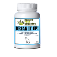 Natura Petz BREAK IT UP! Stone Eliminator Kidney, Gallstone & Liver Support   CAT ALL LIFE STAGES 90 Capsules