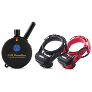 """E-Collar Technologies K9-402 Handler Two Dog 3/4 Mile Remote Dog Trainer on 33"""" BUNGEE COLLAR"""