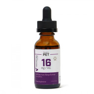 Receptra Naturals  CBD Tincture for SMALL PETS up to 40 lbs  500mg/ 16mg Dose) (1oz)
