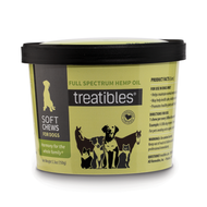 TREATIBLES® WHOLE PLANT FULL SPECTRUM HEMP OIL INFUSED SOFT CHEWS FOR DOGS