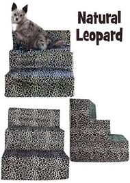 Leopard Velour Pet Steps by Pet Flys