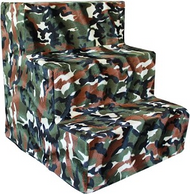 Green Camo Plush Pet Steps
