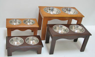 Crown Pet Double Dinners - Eco-Friendly Hardwood