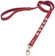 Diamond Faceted Rhinestones & SODALITE Red Dog  Leash