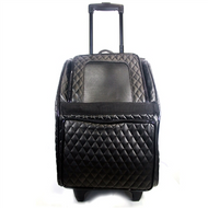 Black Quilted Luxe Rio Bag - 3 in 1 Carrier on WHEELS!