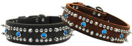 Mirage Pet Products Jewel Leather Dog Collar