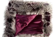 Purple Majest Faux Fur Blanket