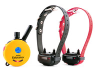 E-Collar Technologies ET-302 Two Dog Mini Educator 1/2 Mile Remote Dog Trainer Yellow