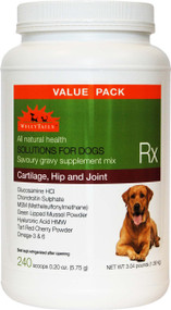 WellyTails Cartilage, Hip & Joint Dog Rx Supplement – 1.38Kg/3.04 lbs (240 x 5.75g scoops) VALUE PACK