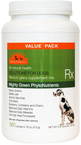 WellyTails Mighty Green Phytonutrients plus Vitamins & Minerals Dog Rx 1.80Kg/3.97 lbs. (360 x 5g scoops) VALUE PACK