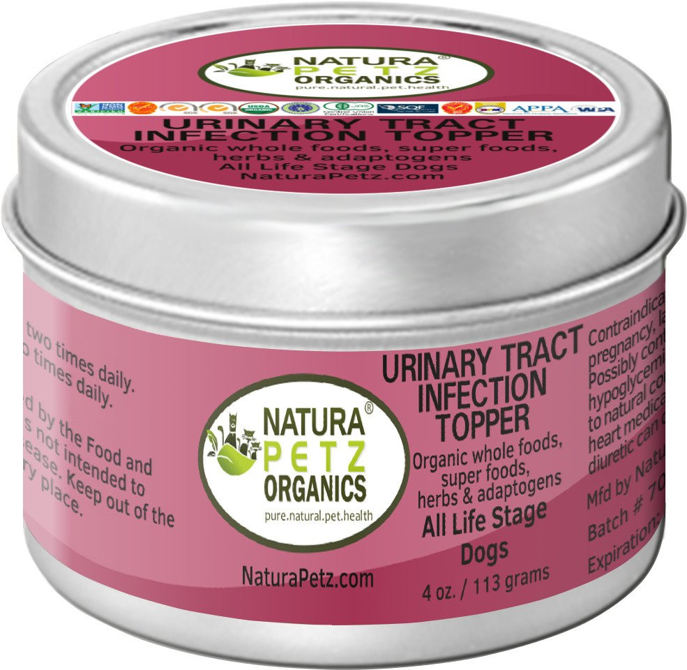 Natura Petz Organics Urinary Tract Infection Meal Topper for Dogs and Cats*  - Flavored UTI Meal Topper for Dogs and Cats*