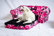 Pink Camo Pull Out Pet Sleeper Sofa Bed by Pet Flys