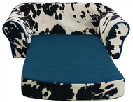 Cow Print Camo Pull Out Pet Sleeper Sofa Bed