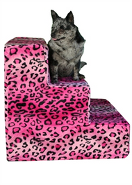 Hot  Pink Cheeta Pet Steps