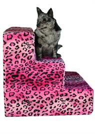 Hot  Pink Cheeta Pet Steps