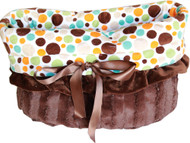 Fall Party Dots Reversible Snuggle Bugs Pet Bed, Carrier Bag, and Car Seat All-in-One
