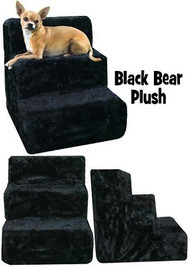 Black Bear Plush Pet Steps