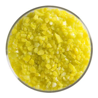 Bullseye Glass Canary Yellow Opal, Frit, Coarse, 5 oz jar 000120-0003-F-OZ05