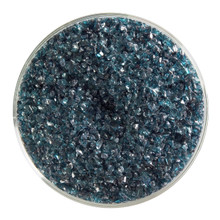 Bullseye Glass Aquamarine Blue Transparent, Frit, Medium, 5 oz jar 001108-0002-F-OZ05