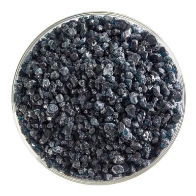 Bullseye Glass Aquamarine Blue Transparent, Frit, Coarse, 5 oz jar 001108-0003-F-OZ05