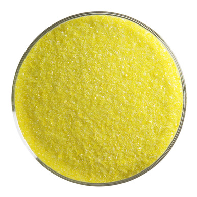 Bullseye Glass Canary Yellow Opal, Frit, Fine, 1 lb jar 000120-0001-F-P001