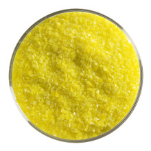 Bullseye Glass Canary Yellow Opal, Frit, Medium, 1 lb jar 000120-0002-F-P001
