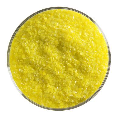 Bullseye Glass Canary Yellow Opal, Frit, Medium, 1 lb jar 000120-0002-F-P001