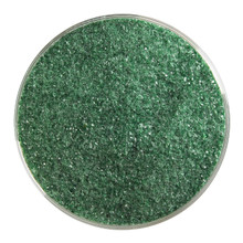 Bullseye Glass Aventurine Green Transparent, Frit, Fine, 1 lb jar 001112-0001-F-P001