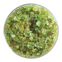 Bullseye Glass Chartreuse Transparent, Frit, Coarse, 1 lb jar 001126-0003-F-P001