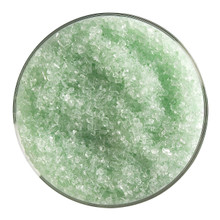 Bullseye Glass Grass Green Transparent Tint, Frit, Medium, 1 lb jar 001807-0002-F-P001