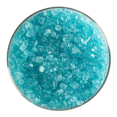 Bullseye Glass Aqua Blue Transparent Tint, Frit, Coarse, 1 lb jar 001808-0003-F-P001