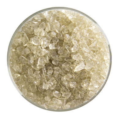 Bullseye Glass Olive Smoke Transparent Tint, Frit, Coarse, 1 lb jar 001867-0003-F-P001