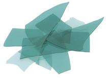 Aquamarine Blue Transparent, Confetti, 4 oz jar