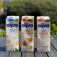 Alpro milk alternatives