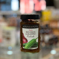 Atkins & Potts Red Onion & Jalapeno Relish 280g